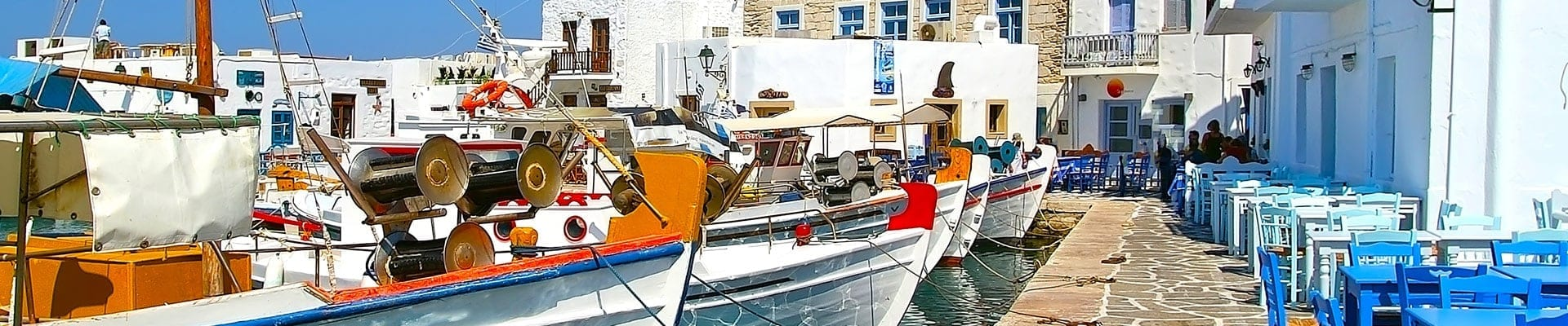 Fishing boats in Paros – main image