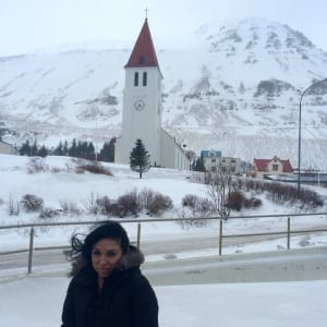 Giovanna Picoi in Siglufjorour Iceland