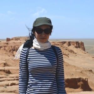 Giovanna Picoi in the South Gobi Desert