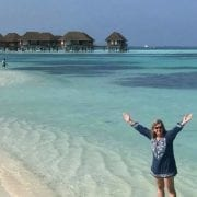 Sally in the Maldives